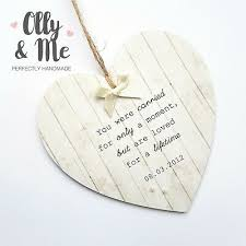 wooden personalised baby miscarriage