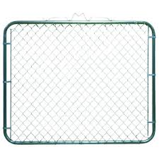 Yardgard 5 Ft H 1 In X 4 Ft H Galvanized Steel Bent Frame Single Walk Through Fence Gate 328317a The Home Depot