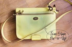 hello hydrangea jean stain purse