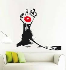 Hand With Lips Wall Decal Abstract Decor From Trendy Wall Designs
