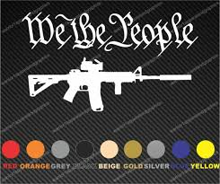 Protected By Ar 15 Assault Rifle Gun Car Truck Window Decal Vinyl Sticker Usa Product Sbbc Gr