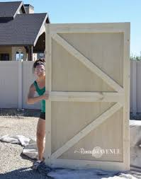 free plans on how to build a shed door