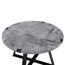 round metal wrap coffee table faux