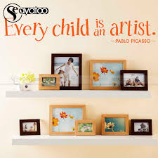 Every Child Is An Artist Pablo Picasso Quote Vinyl Wall Sticker Decal Kids Room Words Letters Stickers 17x102cm Vinyl Wall Stickers Wall Stickervinyl Wall Aliexpress
