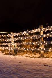 Lights On Barn Yard Fence Christmas Lights Outside Outdoor Christmas Decorations Yard Christmas Light Installation