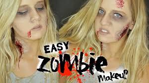 easy zombie halloween makeup tutorial