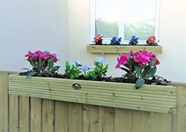 Over The Fence Panel Hanging Balcony Wooden Planter Window Box Trough Decking 3ft 91 5 Cm Natural Amazon Co Uk Garden Outdoors
