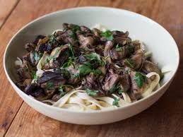 mushroom ragu w fettuccine recipe and