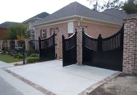 Do You Need To Repaint Your Residential Fences Gates In Dallas Contact At Prestonhollowfence Com Sliding Wood Gate Dal Brick Fence Modern Fence Iron Fence