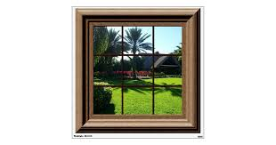 Fake Window View Relaxing Tropical Landscape Wall Wall Decal Zazzle Com