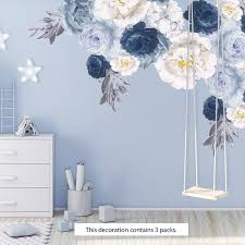 Shop Walplus Elegant Oversized Peonies Flowers Floral Wall Stickers Diy Art On Sale Overstock 31939624