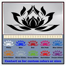 Decaldoggy Lotus Flower Vinyl Decal Car Wall Ebay