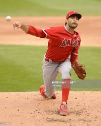 Noe Ramirez of the Los Angeles Angels pitches against the Chicago ...