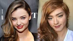 miranda kerr makeup transformation