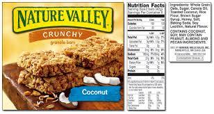 nature valley granola bars nutrition