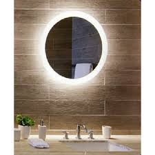 round mirror backlit with led light