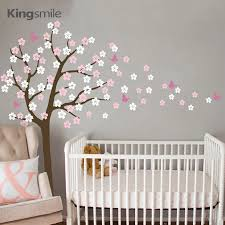 Modern Flower Tree Wall Sticker White Cherry Blossom Branch Vinyl Diy Nursery Decals Art Wall Stickers For Kids Room Home Decor Home Decor Vinyl Wall Stickers Treesticker Tree Aliexpress