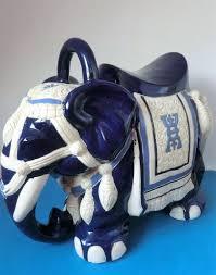 big majolica ceramic cobalt blue white