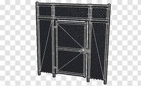 Chain Link Fencing Gate Fence Door Lock Furniture Transparent Png