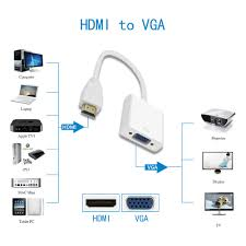 HDMI to VGA Adapter Converter HDMI Cable for Computer Laptop Tablet 1080p  HDTV Monitor Full HD-in HDMI Cables from Consumer Electronics on AliExpress