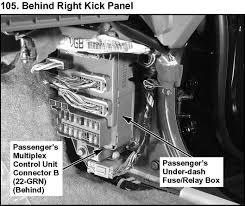 f2a22a acura mdx fuse box diagram