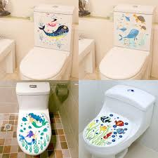 Sealife Fish Toilet Seat Stickers Home Decoration Diy Flower Underwater Scenery Mural Art Bathroom Room 3d View Pvc Wall Decal Wall Saying Decals Wall Sayings From Aldrichy 22 67 Dhgate Com
