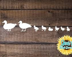Duck Family Decal Etsy