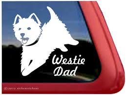 Jumping Westie Mom Dog Decals Stickers Nickerstickers