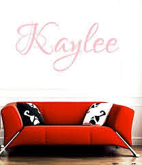 Huanyi Kaylee Pink Girl Name Room Kids Name Room Wall Sticker Quote Art Vnyl Decal More Info Co Wall Stickers Quotes Vinyl Decal Stickers Name Wall Stickers