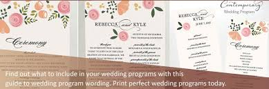 wedding program wording guide