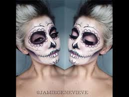 sugar skull makeup tutorial jamie