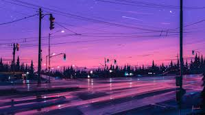 2d digital art landscape cityscape