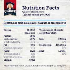 quaker whole oats 400g
