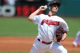Cleveland Indians' Adam Plutko steps in for injured Trevor Bauer ...