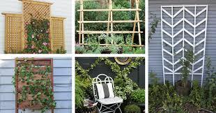 25 chic diy garden trellis plans