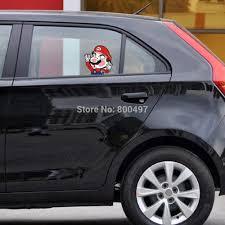 Funny Super Mario Hitting The Glass Car Body Stickers Car Decal For Toyota Chevrolet Volkswagen Tesla Honda Hyundai Kia Lada Car Stickers Aliexpress