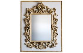 m34 large baroque mirror grey and gold