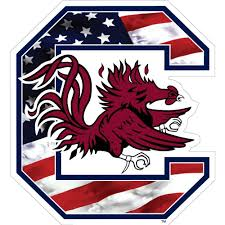 South Carolina Gamecocks Block C Usa Flag Decal Palmetto Moon Online