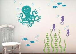 Sea Ocean Friends Wall Decal Set Octopus Set Tweet Heart Home Design