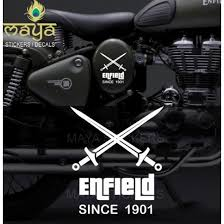 Custom Crossed Sword Sticker For Royal Enfield Bullet Available In Different Colors Madelikeart