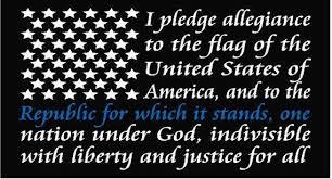 American Flag Pledge Of Allegiance Thin Blue Line Window Decal Etsy
