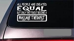 Massage Therapist Equal Sticker G684 8 Vinyl Table Deep Tissue Towels Heat Walmart Com Walmart Com