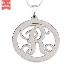 sterling silver circle pendant necklaces