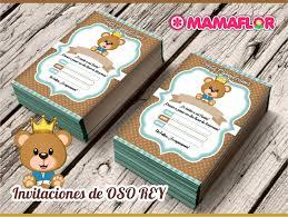 Oso Rey Para Fiesta De Ninos Tarjetas De Invitacion Para Imprimir