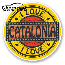 Jump Time For Barcelona Catalonia Spain Vinyl Sticker Decal Travel Luggage Tag Decal Rear Windshield Waterproof Car Accessories Car Stickers Aliexpress