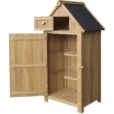 slim garden cabinet made of fir wood