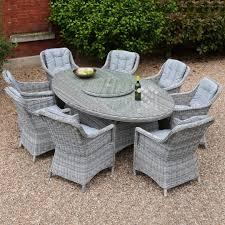 chair oval dining set slate rattan