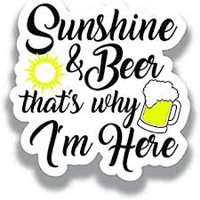 Amazon Com More Shiz Sunshine Beer That S Why I M Here Vinyl Decal Sticker Car Truck Van Suv Window Wall Cup Laptop One 5 Inch Decal Mks1164 Automotive