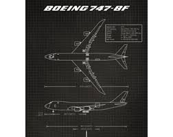 Boeing 747 Sticker Etsy