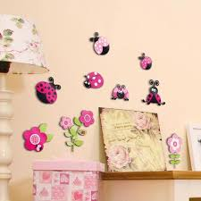 Cr 14506 Pink Ladybugs 3d Wall Decals By Crearreda